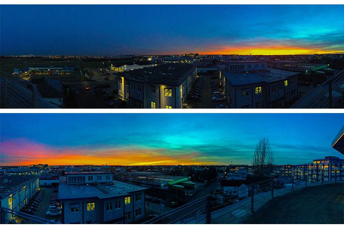Sonnenuntergang über Ingolstadt