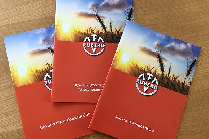 Broschürengestaltung in mehreren Sprachen für Franz RUBERG GmbH & Co. KG