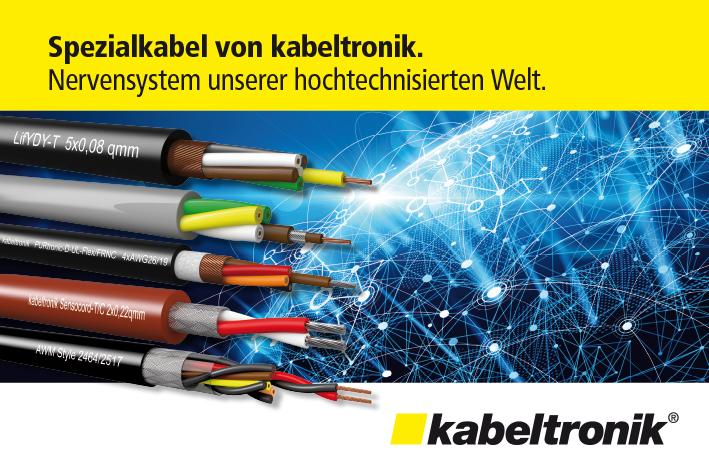 Auschnitt aus der Anzeige für unseren neuen Kunden kabeltronik!